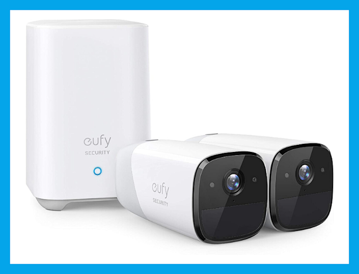 This EufyCam 2 Wireless Home Security Camera System Dual Camera Kit is 25% off, Today Only!  (Photo: Eufy)