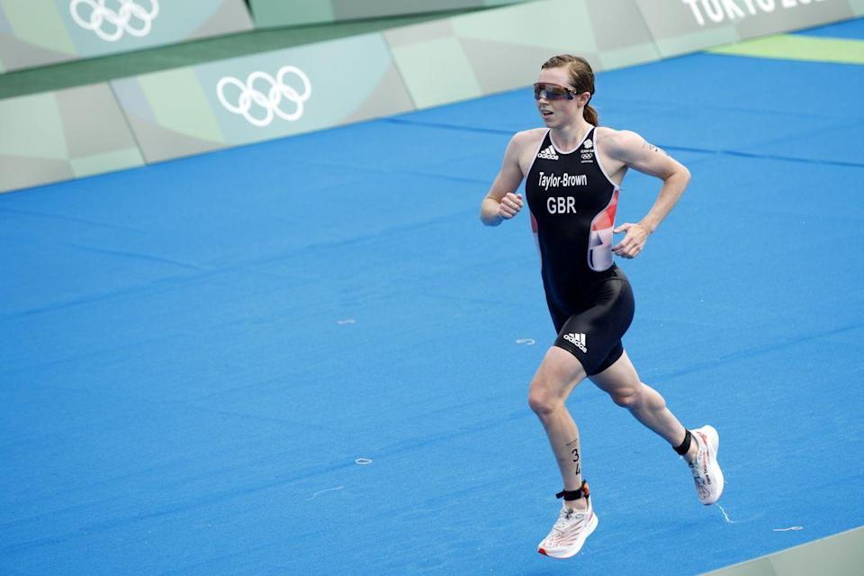 <p>2020 World Champion Georgia Taylor-Brown cruised to second place in the women's triathlon, in spite of a rear tyre puncture during the cycling section of the race.</p>