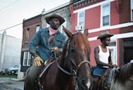 """<p>The last time Caleb had ridden a horse prior to filming <strong>Concrete Cowboy</strong>, was his sister's sixth birthday. """"<a href=""""https://decider.com/2021/04/02/caleb-mclaughlin-interview-concrete-cowboy-stranger-things-lucas/"""" class=""""link rapid-noclick-resp"""" rel=""""nofollow noopener"""" target=""""_blank"""" data-ylk=""""slk:This was an intense training"""">This was an intense training</a> that I had to do. It was nothing like I've ever done before. I spent like a week before actually hopping on the horse just building a relationship with a horse,"""" he said in an interview with <strong>Decider</strong>. """"A lot of people don't realize-it's not, 'Okay, I'm gonna hop on a horse and say 'Yeehaw!' and ride out into the sunset.' It's like, you have to build this special, spiritual bond with this horse. When you're training with the horse, the horse is also training with you.""""</p>"""
