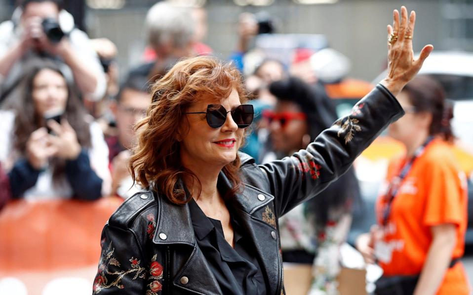 Susan Sarandon, seen here at the premiere of new film Viper Club, has come under fire - REUTERS