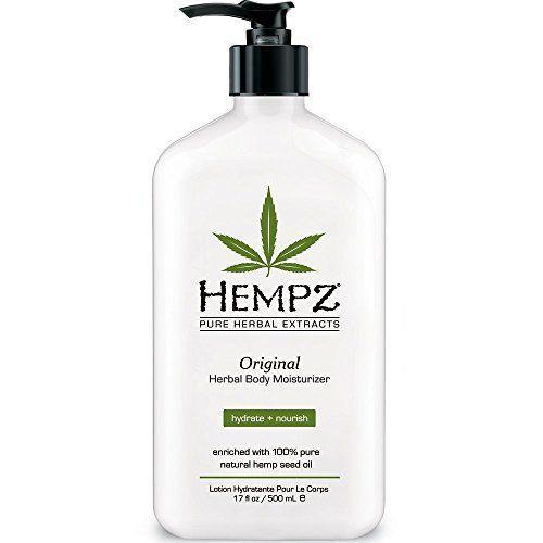 """<p><strong>Hempz</strong></p><p>amazon.com</p><p><strong>$14.26</strong></p><p><a href=""""http://www.amazon.com/dp/B000OYJ9AO/?tag=syn-yahoo-20&ascsubtag=%5Bartid%7C10063.g.35003747%5Bsrc%7Cyahoo-us"""" rel=""""nofollow noopener"""" target=""""_blank"""" data-ylk=""""slk:Shop Now"""" class=""""link rapid-noclick-resp"""">Shop Now</a></p><p>People are obsessed with Hempz, which is gluten-free, paraben-free, and completely vegan. It uses natural hemp seed oil to soothe your skin, and the deliciously light scent (less """"pot mom"""" and more flowers and banana) is perfect for everyday wear.</p>"""
