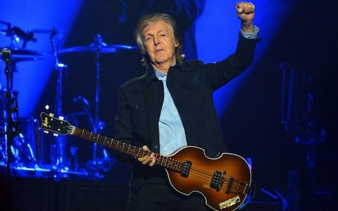 Sir Paul McCartney performs live on stage at the O2 Arena - Credit: Getty/Jim Dyson
