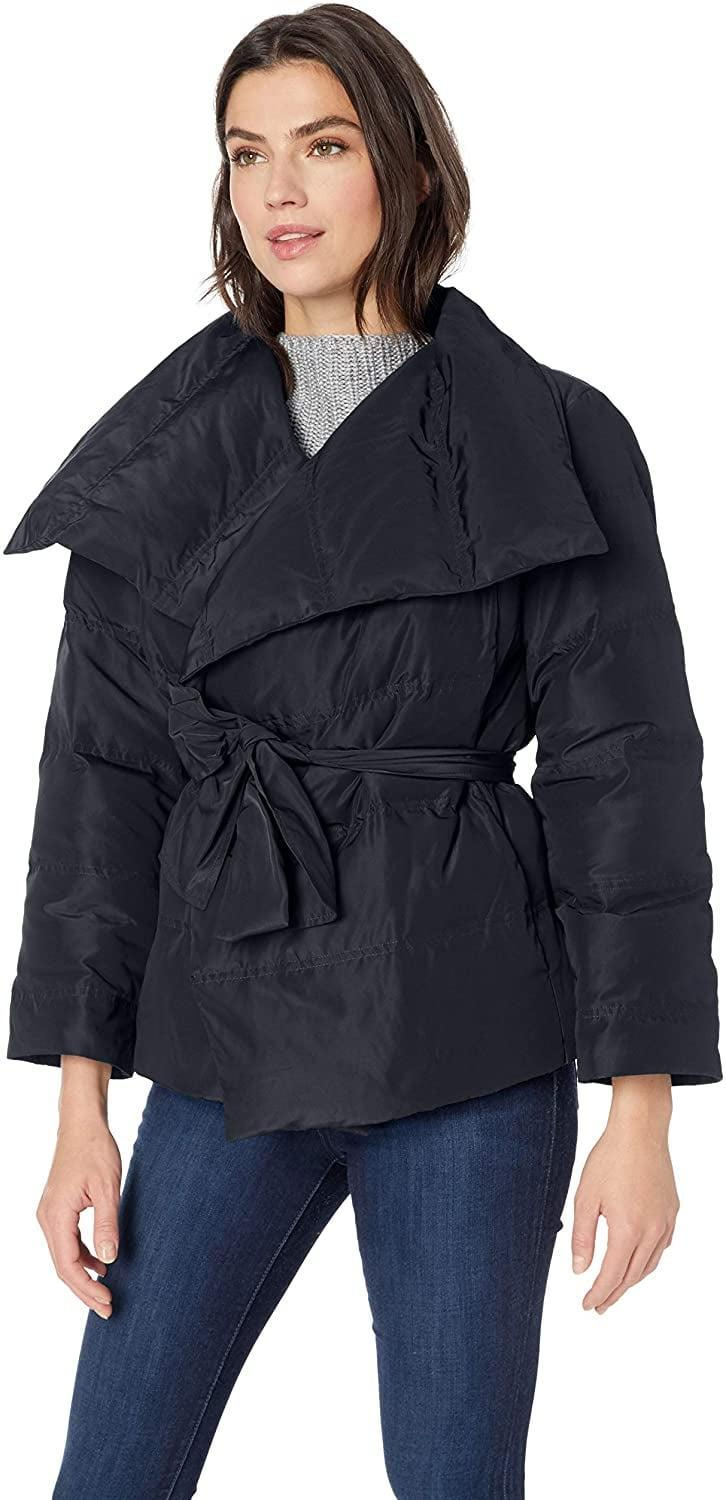 <p>We love the chic design of this <span>Lark & Ro Short Puffer Coat with Wrap</span> ($85).</p>