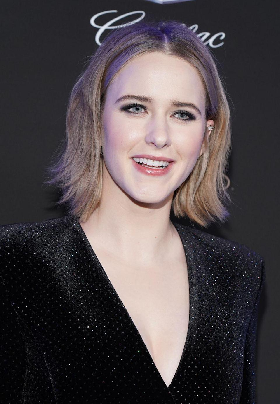 <p><strong>Rachel Brosnahan</strong> may be known for the dark, raven locks she sports as Midge on <em>The Marvelous Mrs. Maisel,</em> but she's naturally a blonde! This dirty blonde shade looks just as natural as the dark brown we're used to seeing on her because it provides contrast against her ivory skin tone — girls going blonde, take note: platinum isn't always the way to go.</p>