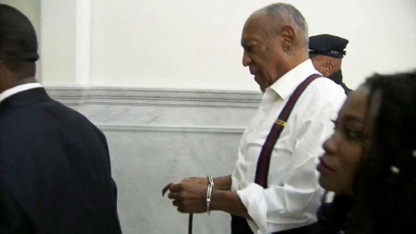 PHOTO: Bill Cosby is escorted in handcuffs at the Montgomery County Courthouse, Sept. 25, 2018, in Norristown, Pa. (WTXF)