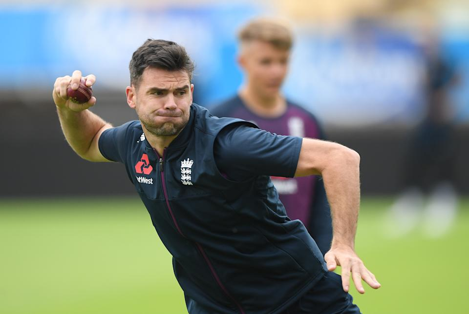James Anderson in fielding practice ahead of the First Ashes Test Match against Australia. (Photo by Stu Forster/Getty Images)