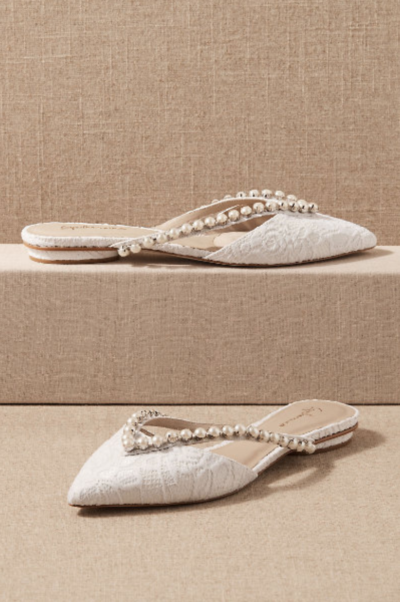 These wedding flats are gorgeous enough for your special day, but comfortable enough that you won't want to ditch them halfway through the ceremony.