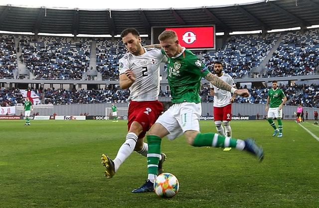 James McClean was unable to help the Republic to victory in Tbilisi (Steven Paston/PA)