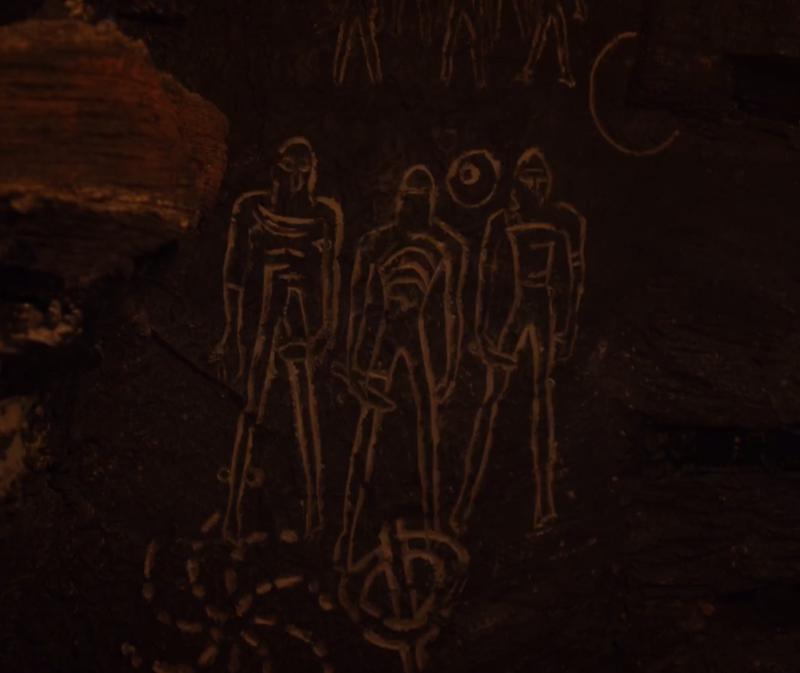 Cave symbols from Season 7. (HBO)