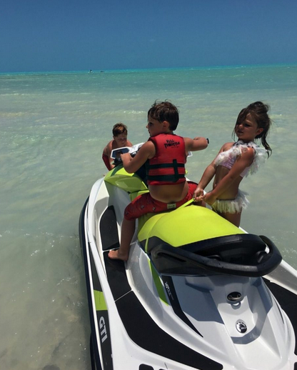 """<p>Kim just had to share the exchange she heard taking place among three of her children as they tried to maneuver a jet ski. """"<span title=""""Edited"""">Kaia, 'Let's go <a href=""""https://www.instagram.com/kashbiermann/"""" rel=""""nofollow noopener"""" target=""""_blank"""" data-ylk=""""slk:@kashbiermann'"""" class=""""link rapid-noclick-resp"""">@kashbiermann'</a>… Kash, 'Im going hold on tight, Kj pull us out!'.. Me.. running, 'Oh hellllll nooooo!!'"""" she recalled. She completed her caption with a laughing-so-hard-I'm-crying emoji for full effect. </span>(Photo: <a href=""""https://www.instagram.com/p/BVAl4f_hxkn/"""" rel=""""nofollow noopener"""" target=""""_blank"""" data-ylk=""""slk:Kim Zolciak-Biermann via Instagram"""" class=""""link rapid-noclick-resp"""">Kim Zolciak-Biermann via Instagram</a>) </p>"""