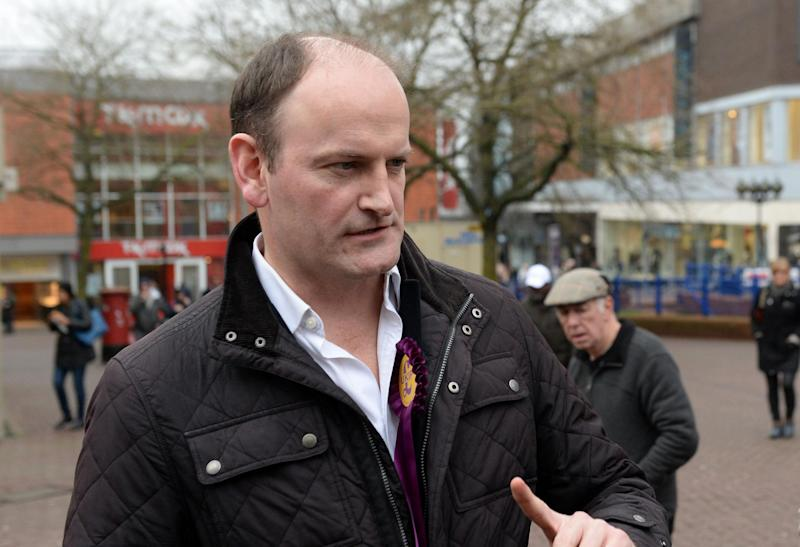 MP Douglas Carswell in Stoke ahead of the Stoke-on-Trent Central by-election in February: PA