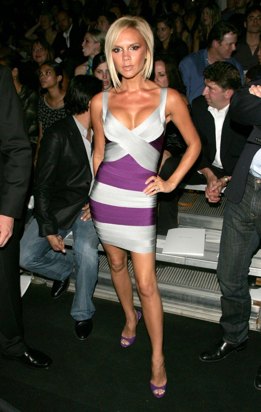 """<p>Herve Leger bandage dresses (or the Bebe knockoffs) were basically the only thing any female wore when she got """"dressed up"""" in 2007. </p>"""