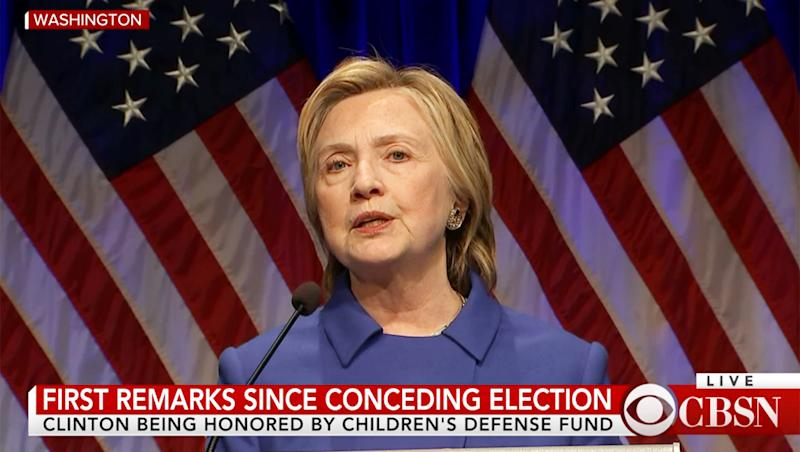 Hillary Clinton Speaks for First Time Since Concession Speech: 'I Wanted to Curl Up … Never Leave the House Again'