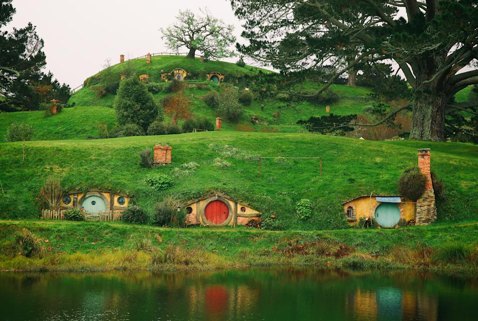 MATAMATA, NEW ZEALAND - JUNE 19:  (Editors note: A digital filter has been applied to this image) A general view of the Shire is seen at the Hobbiton Movie Set where Lord of the Rings and The Hobbit trilogies were filmed, during the FIFA U-20 World Cup on June 19, 2015 in Matamata, New Zealand.  (Photo by Alex Livesey - FIFA/FIFA via Getty Images)