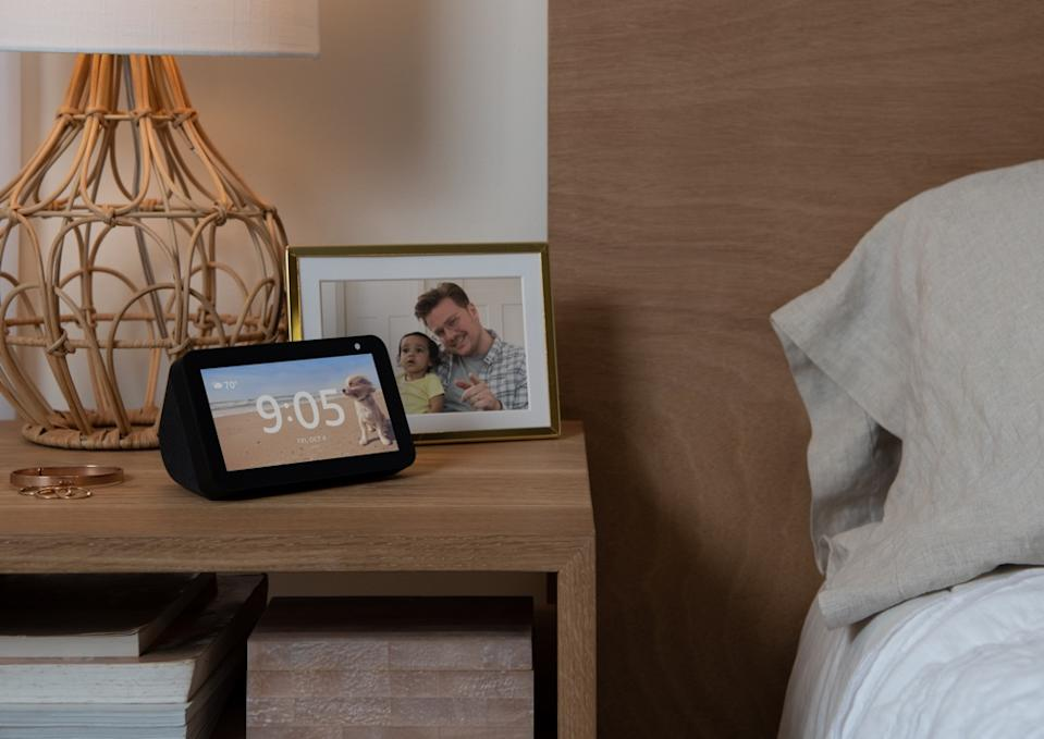 The Echo Show 5 is meant to blend into your existing decor with ease. (Image: Amazon)