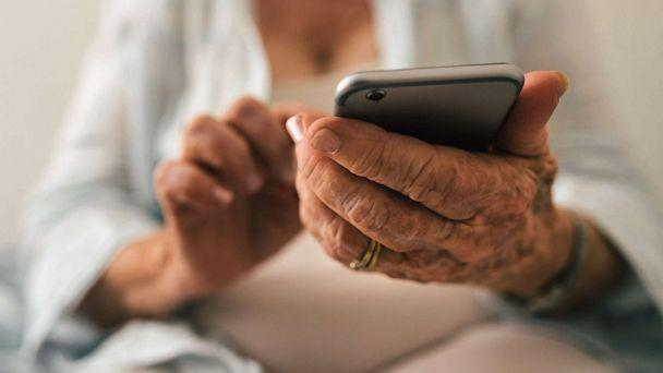 PHOTO: A senior citizen uses a cell phone in an undated stock photo. (STOCK PHOTO/Getty Images)