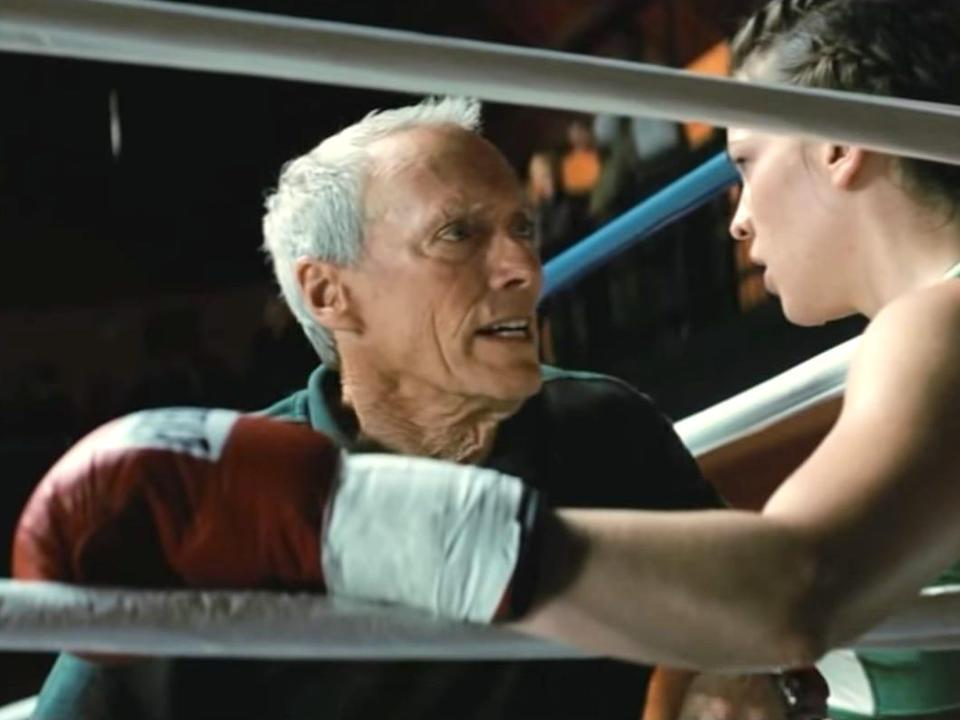 Million Dollar Baby Clint Eastwood and Hilary Swank 2004