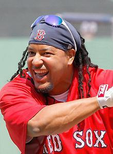 Manny Ramirez wore a smile while winning two World Series with the Red Sox