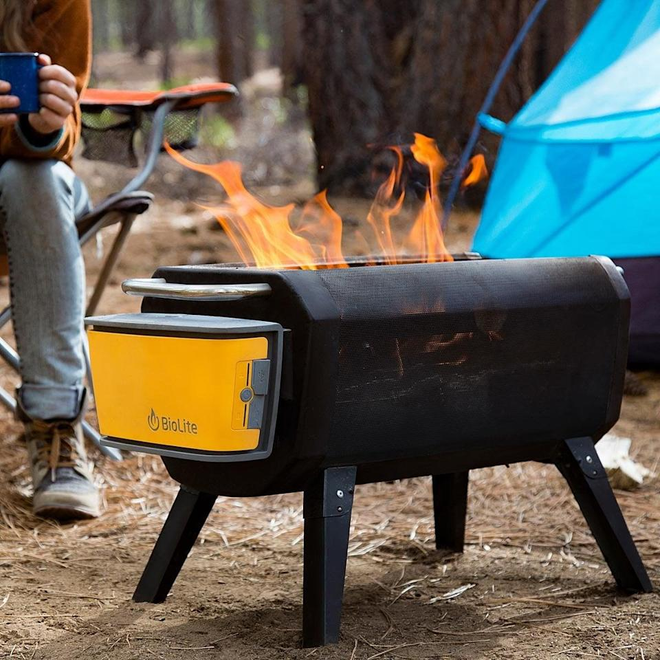<p>This <span>Smokeless Portable Fire Pit and Grill</span> ($20-$250) is great for campers or even someone who has a small outdoor space. We have a feeling the person who loves to BBQ will truly get excited to open it.</p>