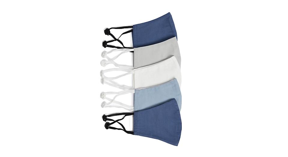 5 Pack Reusable & Adjustable Anti-bacterial Adult Face Coverings