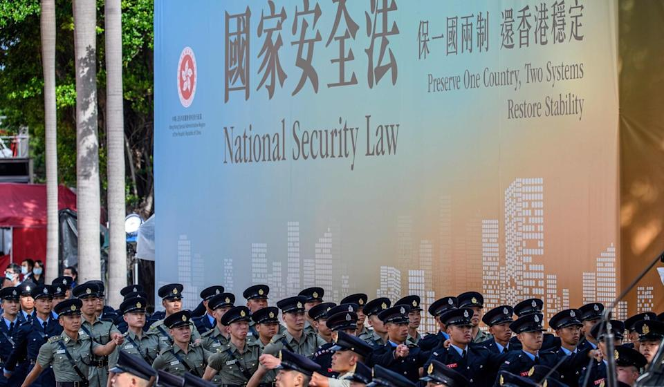 The imposition of the national security law means Hong Kong would not be a 'gaping hole' in China's security apparatus, Carrie Lam said. Photo: AFP