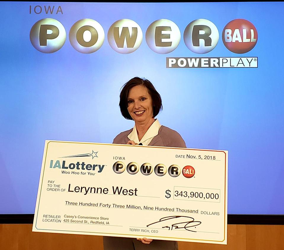Lerynne West has already been wildly generous with her $343.9 million Powerball win. (Photo: Iowa Lottery)