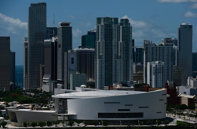 "The home of the <a class=""link rapid-noclick-resp"" href=""/nba/teams/miami/"" data-ylk=""slk:Miami Heat"">Miami Heat</a> has a surprising entry in the naming rights game. (Getty)"
