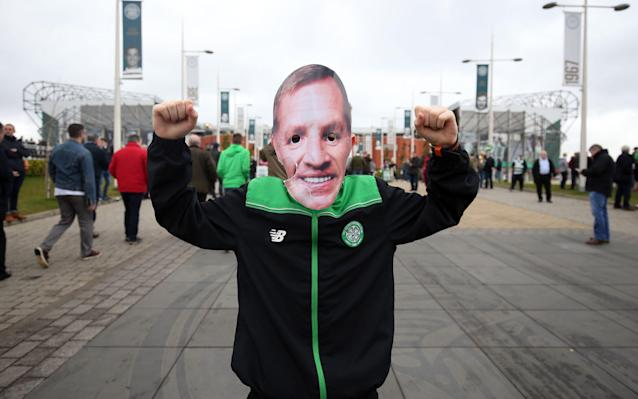 <span>Celtic fans are happy Brendan Rodgers is staying</span> <span>Credit: PA </span>