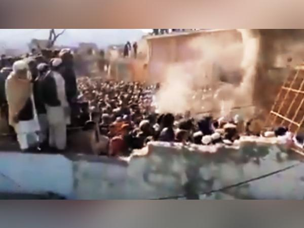 A Hindu temple in Karak district of Khyber Pakhtunkhwa province destroyed and set fire by a mob in Pakistan. (File Photo)