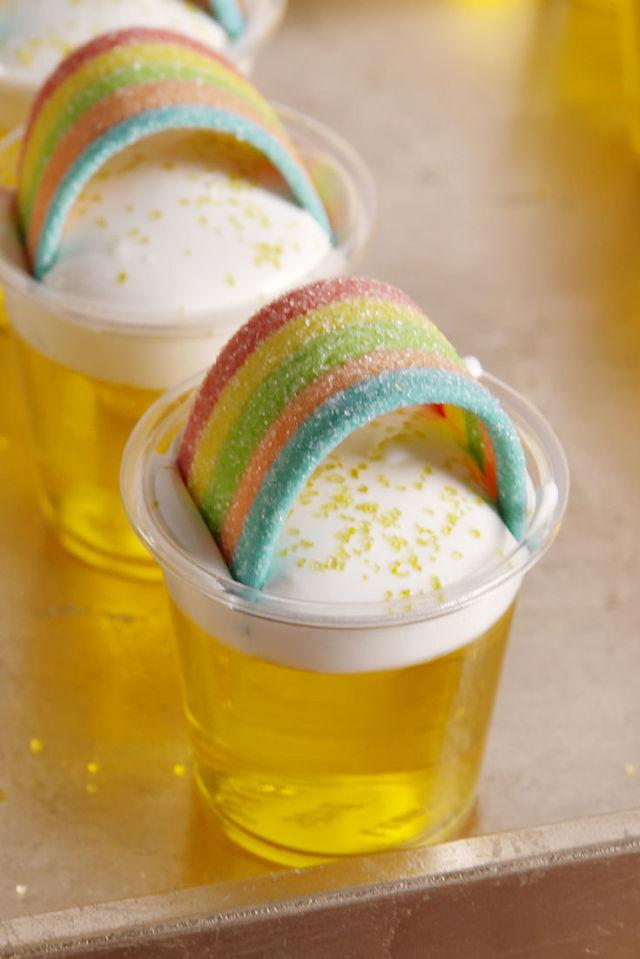 """<p>Want a nonalcoholic version? Swap out the whiskey for another 1/2 c of cold water.</p><p>Get the recipe from <a rel=""""nofollow"""" href=""""http://www.delish.com/cooking/recipe-ideas/recipes/a51768/pot-o-gold-shots/"""">Delish</a>.</p>"""