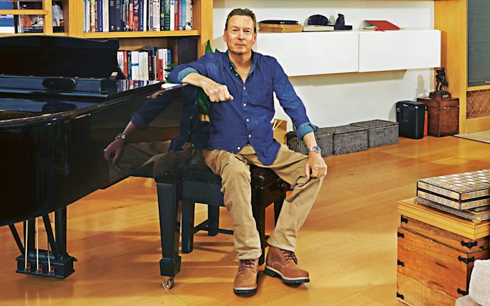 The BBC's Frank Gardner photographed at home ahead of the publication of his new novel, Outbreak - Catherine Hyland
