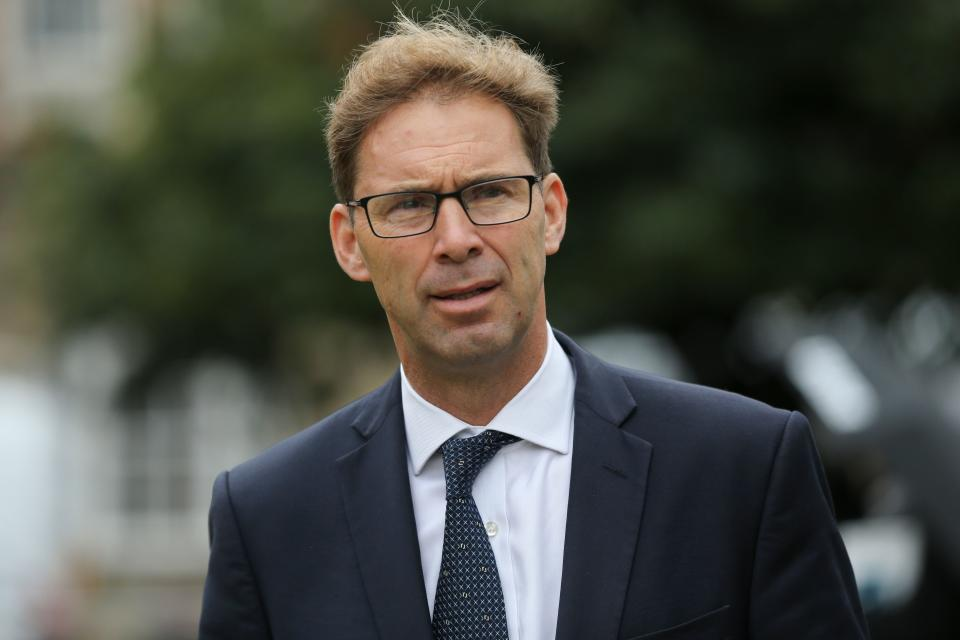 Conservative Party Tobias Ellwood is seen in Westminster near the Houses of Parliament in central London on September 25, 2019. - British MPs return to parliament on Wednesday following a momentous Supreme Court ruling that Prime Minister Boris Johnson's decision to suspend parliament was unlawful. (Photo by ISABEL INFANTES / AFP)        (Photo credit should read ISABEL INFANTES/AFP via Getty Images)