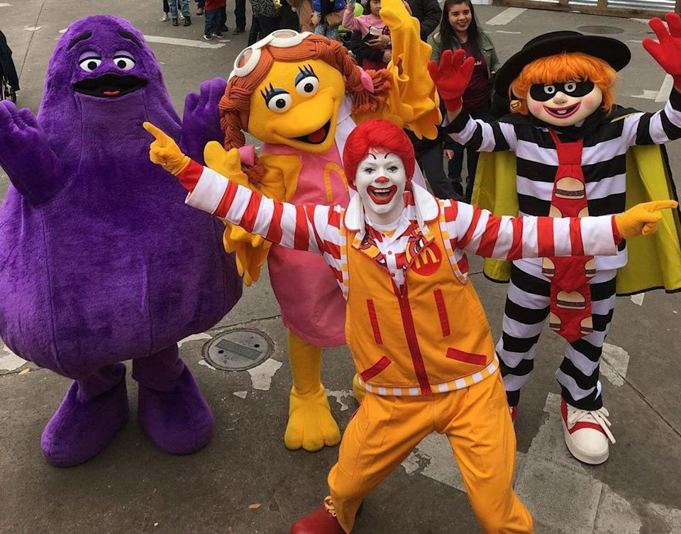 Grimace and other McDonald's mascots