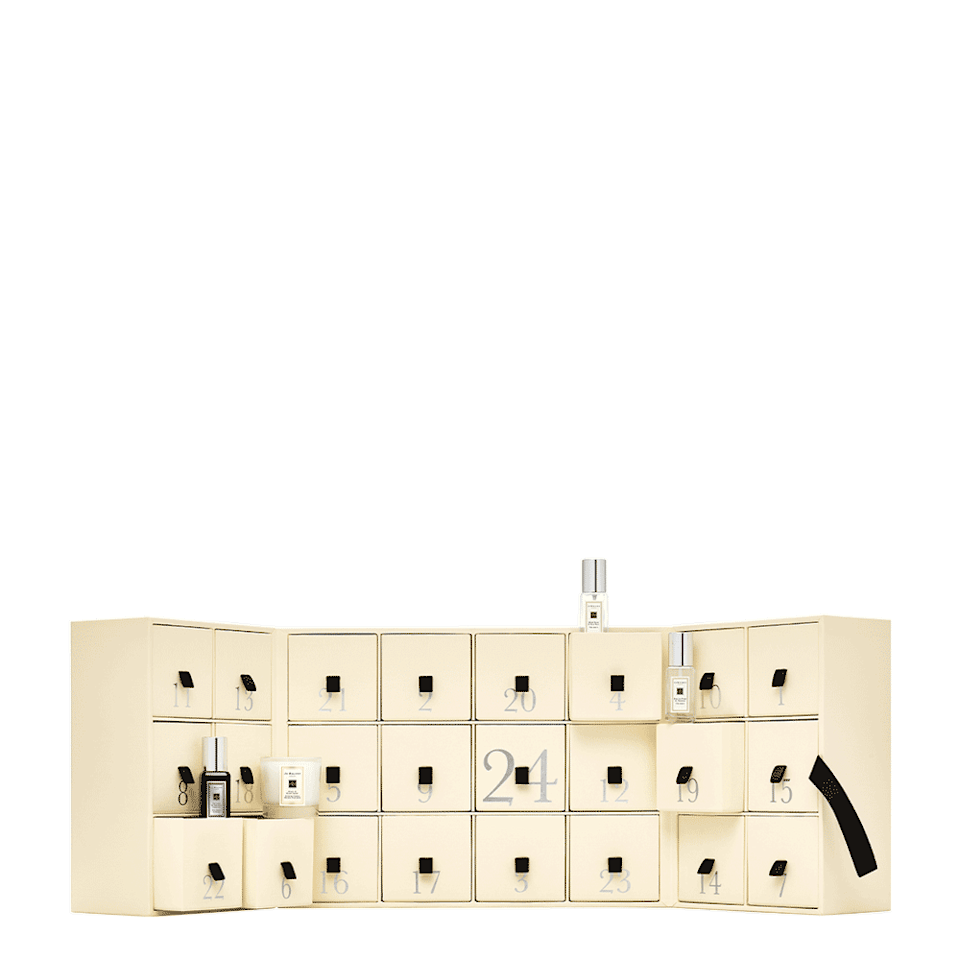 """<p><strong>jo malone</strong></p><p>jomalone.com</p><p><strong>$450.00</strong></p><p><a href=""""https://go.redirectingat.com?id=74968X1596630&url=https%3A%2F%2Fwww.jomalone.com%2Fproduct%2F26322%2F80549%2Fgift-sets%2Fadvent-calendar&sref=https%3A%2F%2Fwww.townandcountrymag.com%2Fstyle%2Ffashion-trends%2Fnews%2Fg2970%2Ffancy-advent-calendars%2F"""" rel=""""nofollow noopener"""" target=""""_blank"""" data-ylk=""""slk:Shop Now"""" class=""""link rapid-noclick-resp"""">Shop Now</a></p><p>If you can't get enough of this London perfumer's famously layerable colognes, this is the perfect advent calendar for you. Filled with 24 of Jo Malone's signature scented products including colognes as well as bath and body goodies, you'll be smelling sweet all season long. </p>"""