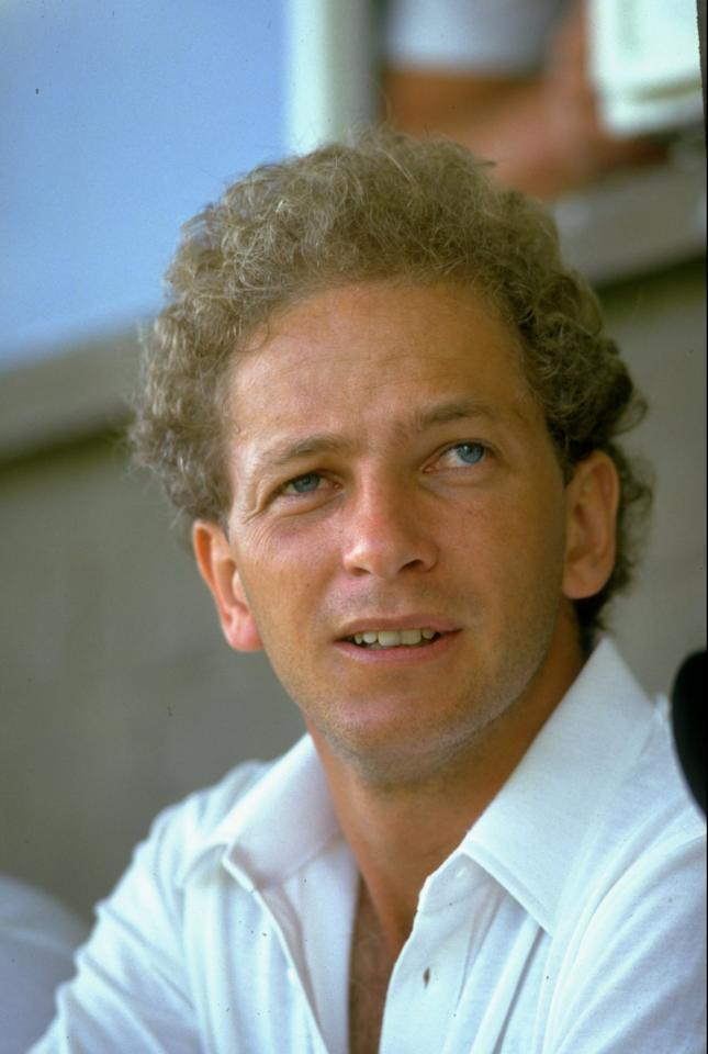 1986:  Portrait of David Gower of England during the England tour of the West Indies.   \ Mandatory Credit: Adrian  Murrell/Allsport