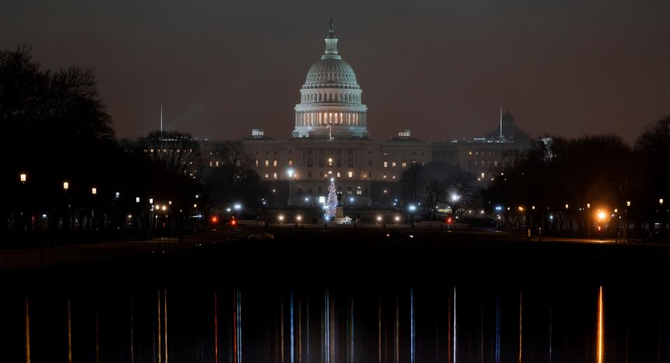 The U.S. Capitol is seen early Tuesday, Dec. 17, 2019, as House Democrats prepare their impeachment case against President Donald Trump. (Photo: J. Scott Applewhite / ASSOCIATED PRESS)