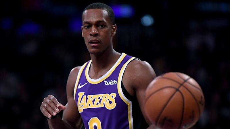 29033a74e53 Lakers  Rajon Rondo has fluid drained from hand slowing his recovery from  surgery