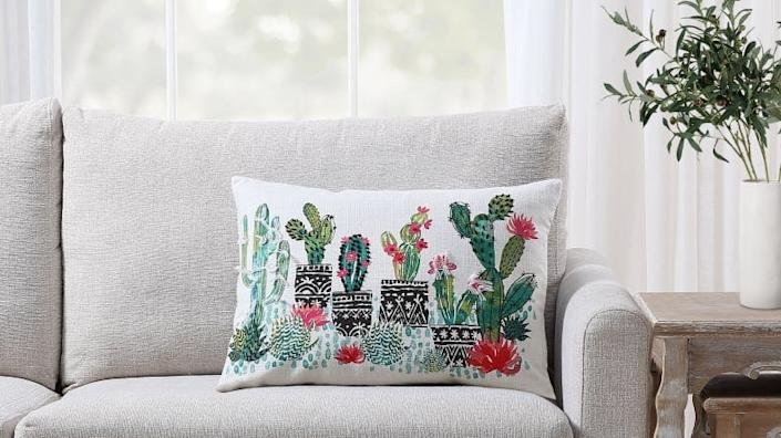 This cactus pillow is the perfect decoration for plant-lovers.