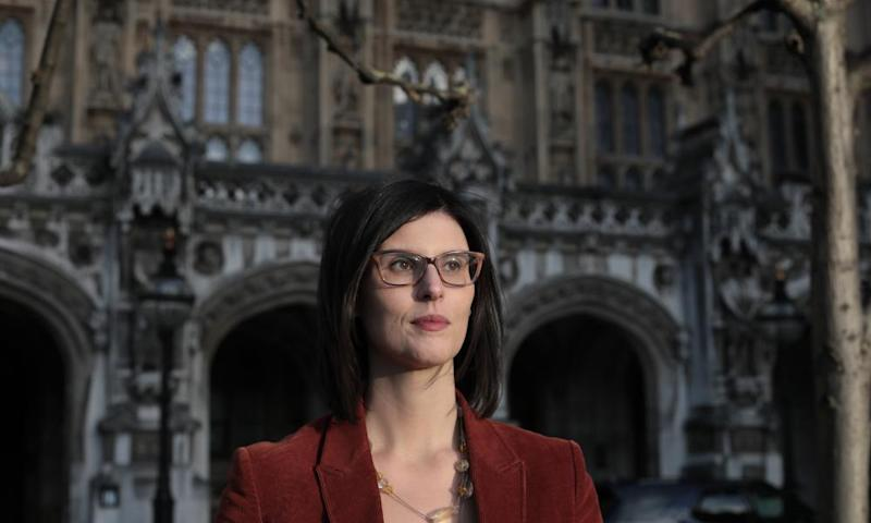 Libe Dem MP Layla Moran outside the Houses of Parliament.