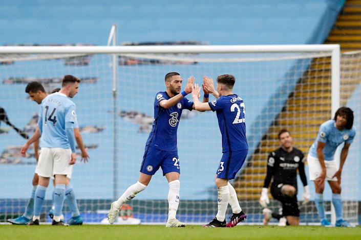 <p>Man City are hoping to claim the title on home soil</p> (Getty)