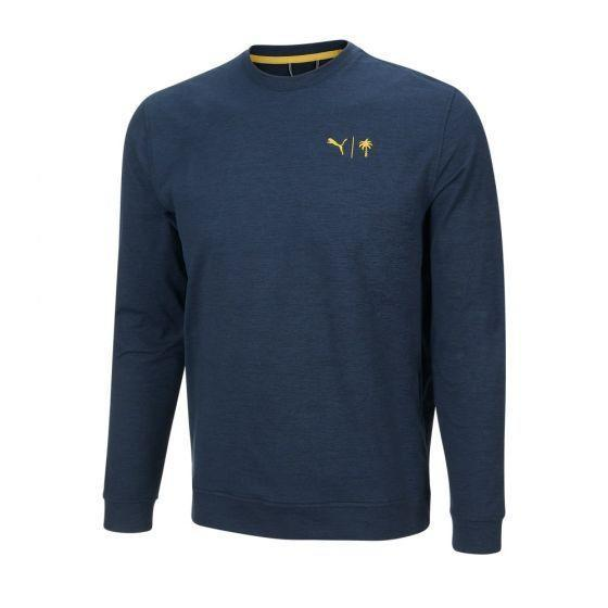 "<p><strong>PUMA x PTC CLOUDSPUN Golden Crew</strong></p><p>cobragolf.com</p><p><strong>$35.00</strong></p><p><a href=""https://www.cobragolf.com/pumagolf/puma-x-ptc-cloudspun-golden-crew"" rel=""nofollow noopener"" target=""_blank"" data-ylk=""slk:Shop Now"" class=""link rapid-noclick-resp"">Shop Now</a></p><p>This team-up between Puma and Palm Tree Crew is built for simultaneous performance and style. Don't just take it from us—popular pros like Rickie Fowler and Bryson DeChambeau trust in the brand for their on-course apparel. </p>"
