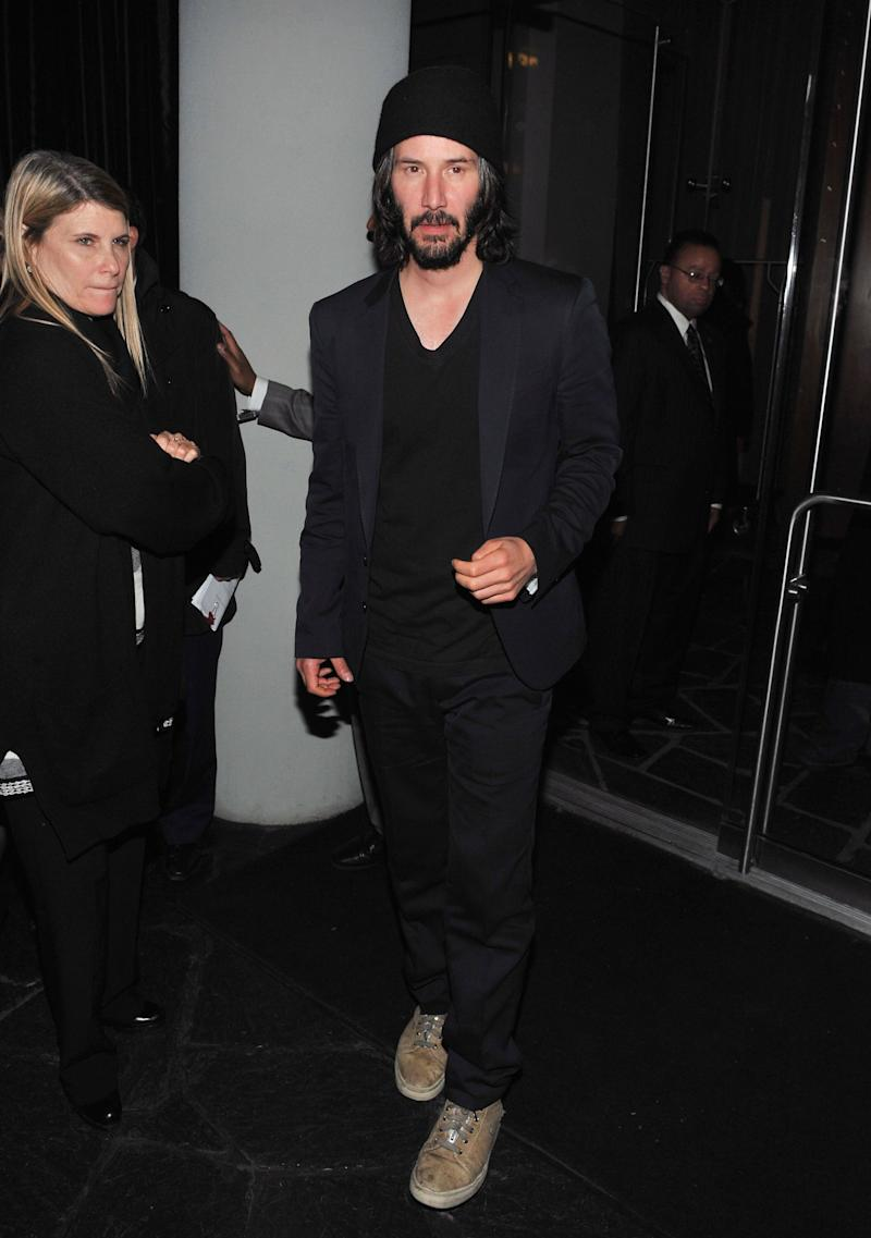 "Reeves attends the afterparty for the screening of ""Henry's Crime"" at the Cooper Square Hotel in New York City."