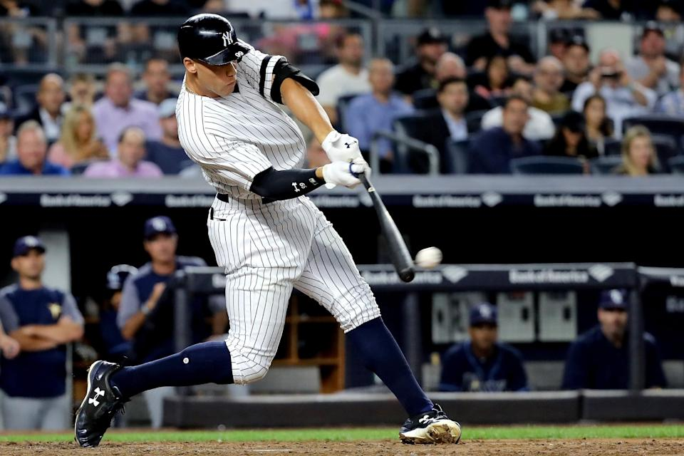 It looks like Aaron Judge will be taking his slugging prowess overseas in 2019. (Getty)