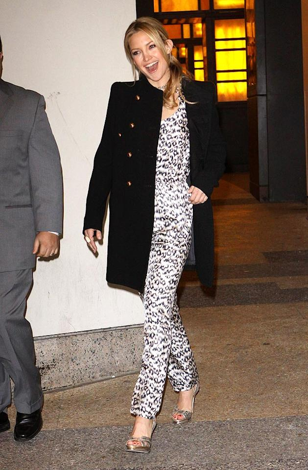 "Although rumor has it that Kate Hudson and A-Rod have split, the actress hardly looked broken-hearted while leaving a taping of ""It's On With Alexa Chung"" in NYC. Richie Buxo/<a href=""http://www.splashnewsonline.com/"" target=""new"">Splash News</a> - December 14, 2009"
