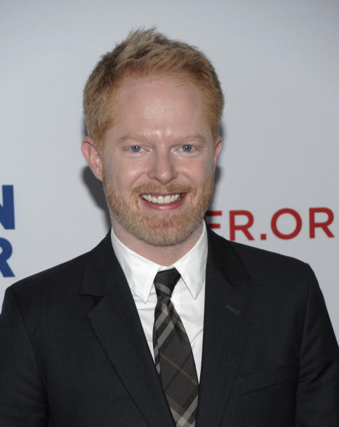 "FILE - In this March 3, 2012 file photo, actor Jesse Tyler Ferguson arrives at the Los Angeles premiere of the play ""8"" in Los Angeles. Five stars of the hit ABC series sued 20th Century Fox Television on Tuesday July 24, 2012, claiming their contracts with the studio are illegal under California law and should be invalidated. (AP Photo/Dan Steinberg, File)"