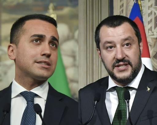 Anti-establishment Five Star Movement leader Luigi Di Maio (left) and far-right League party head Matteo Salvini both have posts in the new Italian government