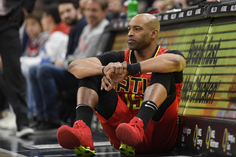 退役名將Vince Carter。(AP Photo/Nick Wass)