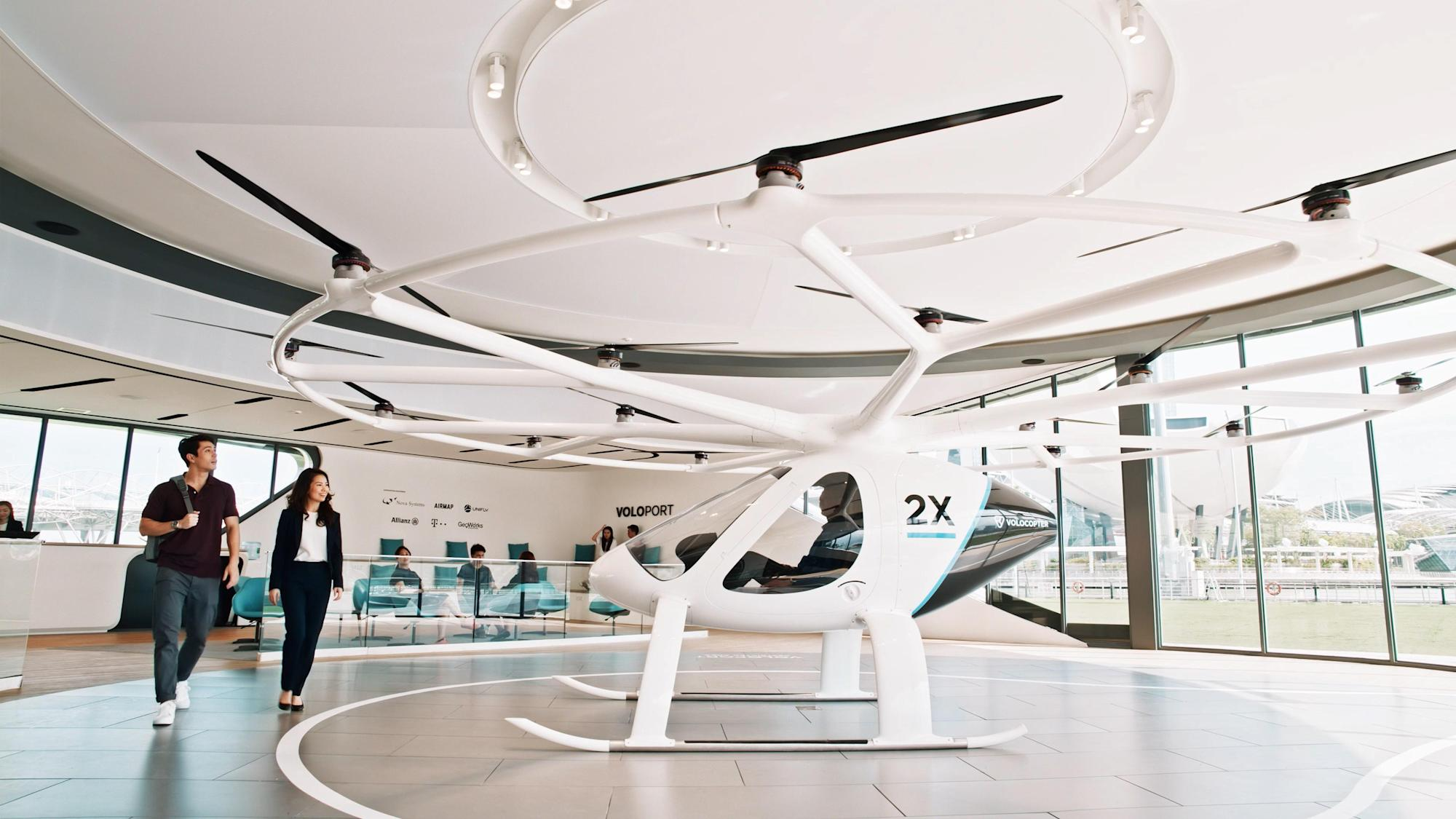 'Flying taxi' startup Volocopter picks up another $241M, says service is now two years out