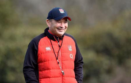 Rugby Union - England Training - Pennyhill Park, Bagshot, Britain - March 14, 2018 England head coach Eddie Jones during training; Action Images via Reuters/Adam Holt