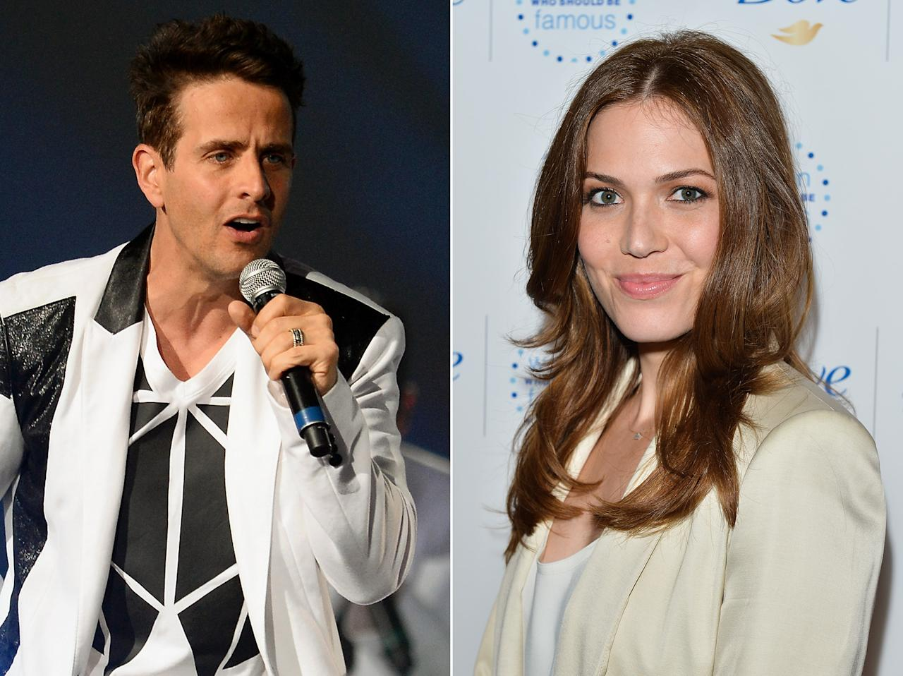"When Mandy Moore was growing up, she loved New Kids on the Block's Joey McIntyre. ""I had the doll, the lunch box, the bed sheet set — obsessed!"" said Moore. ""I later told him [McIntyre] and I think he was slightly creeped out."""